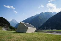 Ventilation building, Gotthard-Ceneri Base tunnel, Erstfeld, Switzerland
